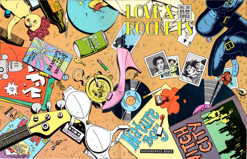 Cover for Love and Rockets (Fantagraphics, 1982 series) #30 [1st Edition]