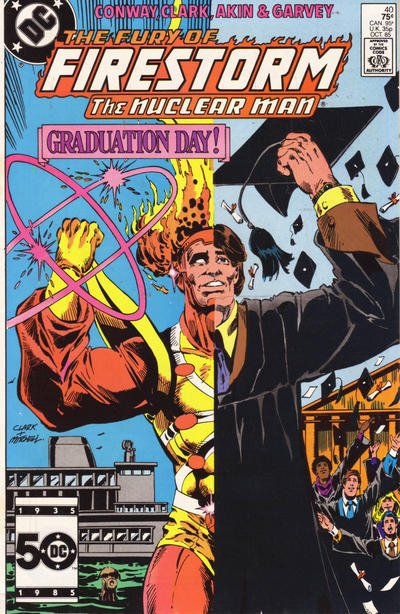 Cover for The Fury of Firestorm (DC, 1982 series) #40 [Direct]