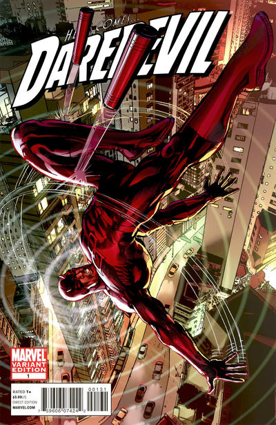 Cover for Daredevil (2011 series) #1 [Blank Variant]