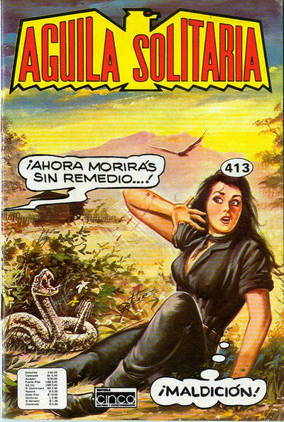 Cover for Aguila Solitaria (Editora Cinco, 1976 ? series) #413