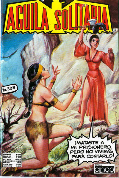 Cover for Aguila Solitaria (Editora Cinco, 1976 ? series) #308