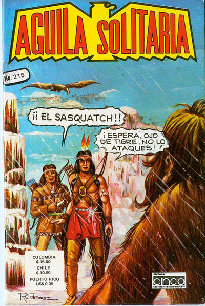 Cover for Aguila Solitaria (Editora Cinco, 1976 ? series) #218