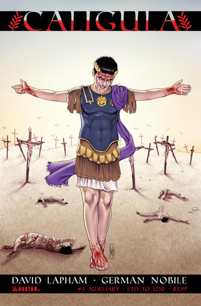 Cover for Caligula (Avatar Press, 2011 series) #3 [Golden]