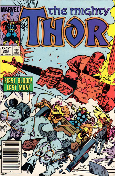 Cover for Thor (Marvel, 1966 series) #362 [Newsstand Edition]