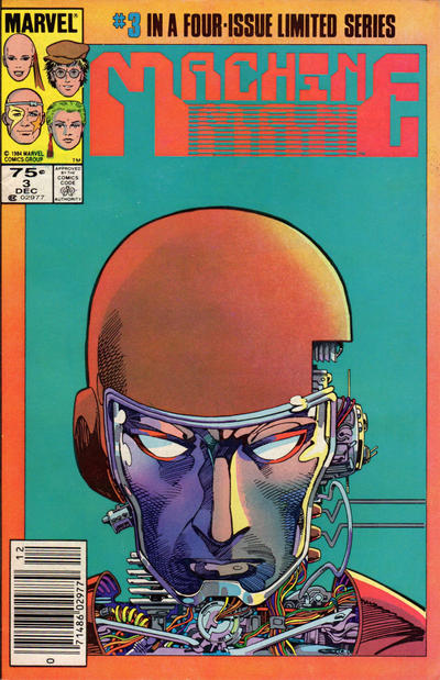 Cover for Machine Man (1984 series) #3 [Newsstand Edition]