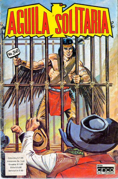 Cover for Aguila Solitaria (Editora Cinco, 1976 ? series) #36