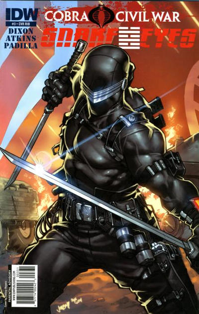 Cover for G.I. Joe: Snake Eyes (IDW, 2011 series) #3 [Cover RIB]