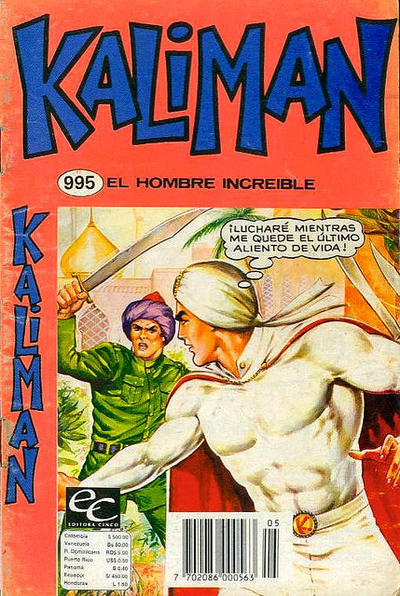 Cover for Kaliman (Editora Cinco, 1976 series) #995