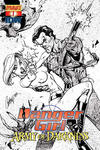 Cover Thumbnail for Danger Girl and the Army of Darkness (2011 series) #1 [J. Scott Campbell Black & White Retailer Incentive Cover]