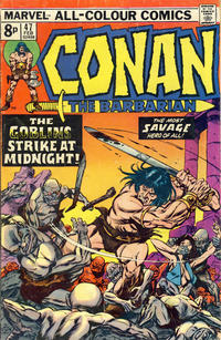 Cover Thumbnail for Conan the Barbarian (Marvel, 1970 series) #47 [British Pence Variant]