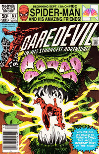 Cover Thumbnail for Daredevil (Marvel, 1964 series) #177 [Newsstand Edition]