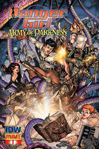 Cover Thumbnail for Danger Girl and the Army of Darkness (Dynamite Entertainment, 2011 series) #1 [Nick Bradshaw Variant Cover]