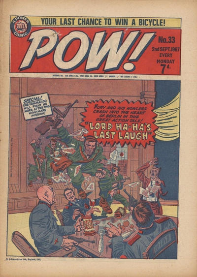 Cover for Pow! (1967 series) #33