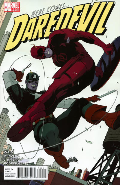 Cover for Daredevil (2011 series) #2 [2nd Printing]