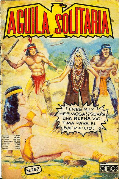 Cover for Aguila Solitaria (Editora Cinco, 1976 ? series) #292