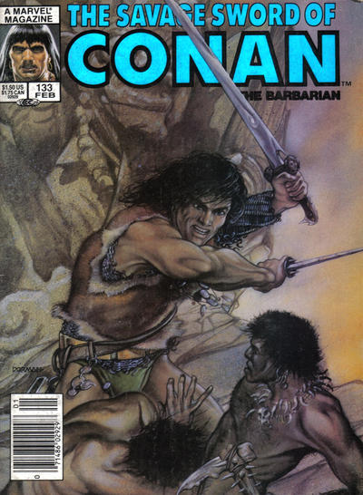Cover for The Savage Sword of Conan (Marvel, 1974 series) #133