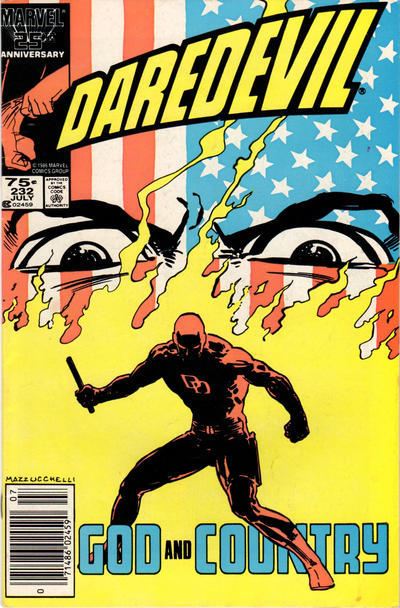Cover for Daredevil (1964 series) #232 [Newsstand Edition]