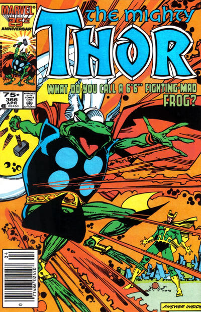 Cover for Thor (Marvel, 1966 series) #366 [Newsstand Edition]