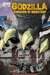 Cover Thumbnail for Godzilla: Kingdom of Monsters (2011 series) #1 [Second Printing:  Downtown Comics Cover]