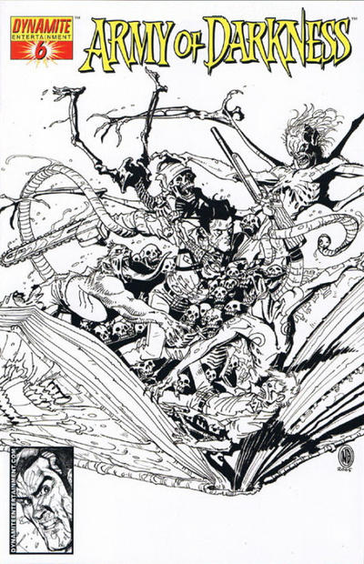 Cover for Army of Darkness (2005 series) #6 [B&W RI]