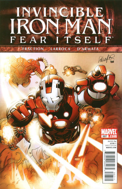 Cover for Invincible Iron Man (2008 series) #507