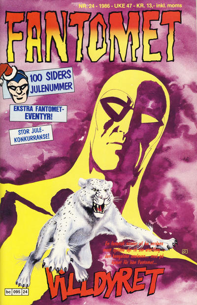 Cover for Fantomet (1976 series) #24/1986