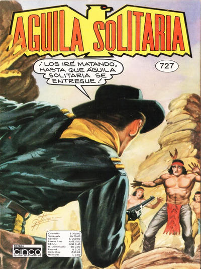 Cover for Aguila Solitaria (Editora Cinco, 1976 ? series) #727