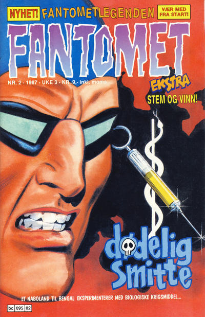 Cover for Fantomet (Semic, 1976 series) #2/1987