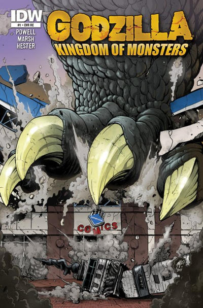 Cover for Godzilla: Kingdom of Monsters (2011 series) #1 [Warp 9 Cover]