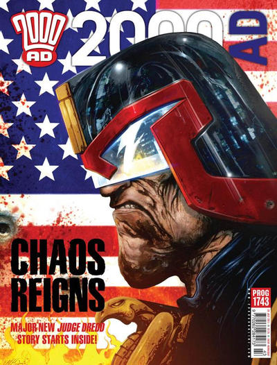 Cover for 2000 AD (Rebellion, 2001 series) #1743