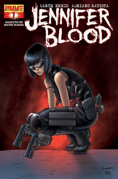 Cover for Jennifer Blood (Dynamite Entertainment, 2011 series) #1 [Blood Red Retailer Incentive]