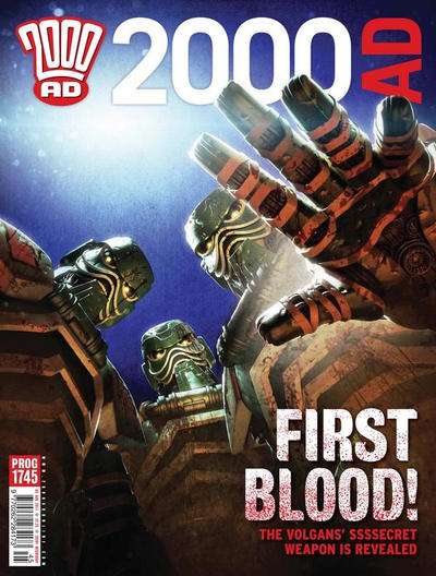 Cover for 2000 AD (Rebellion, 2001 series) #1745