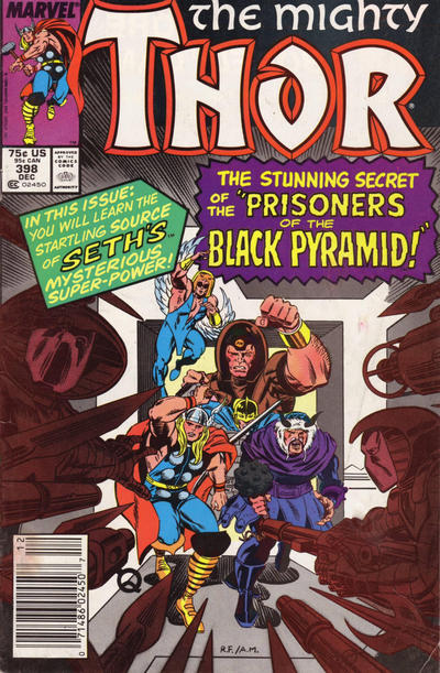 Cover for Thor (Marvel, 1966 series) #398 [Newsstand]