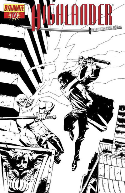 Cover for Highlander (Dynamite Entertainment, 2006 series) #10 [B&W RI]