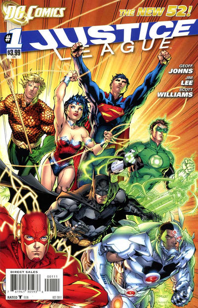 Cover for Justice League (2011 series) #1 [Third Printing Combo Pack Variant]