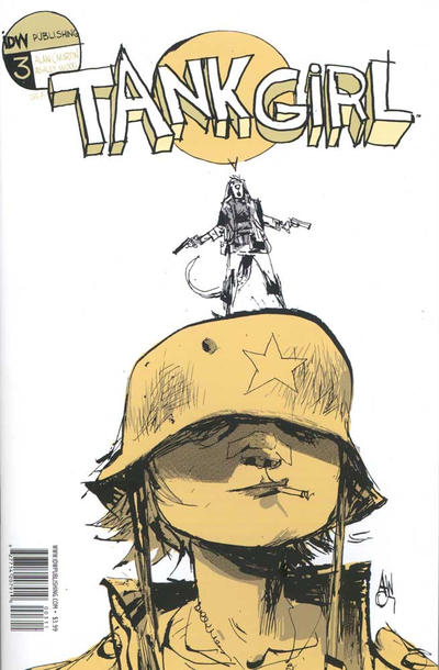 Cover for Tank Girl: The Gifting (IDW, 2007 series) #3 [Cover A]