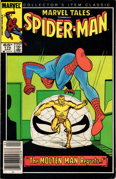 Cover for Marvel Tales (1966 series) #174 [Newsstand Edition]