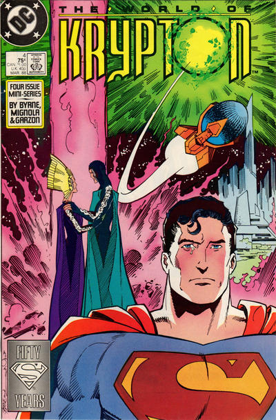 Cover for World of Krypton (1987 series) #4 [Direct Edition]