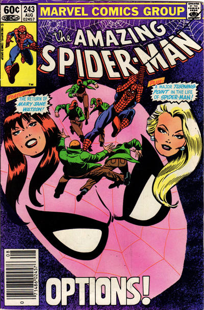 Cover for The Amazing Spider-Man (Marvel, 1963 series) #243 [Newsstand Edition]