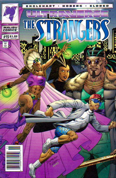 Cover for The Strangers (Malibu, 1993 series) #15 [Newsstand Edition]