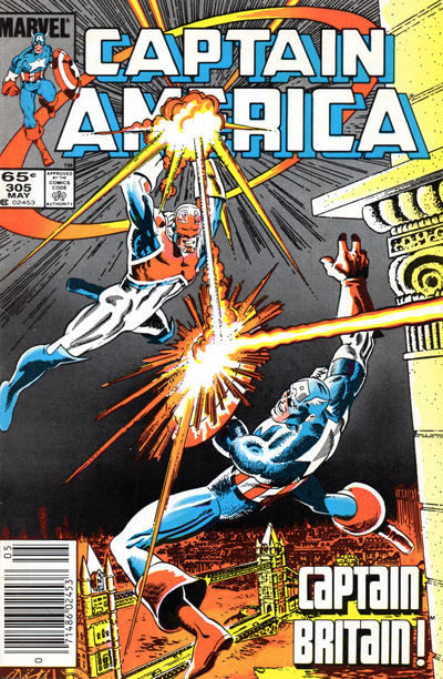 Cover for Captain America (Marvel, 1968 series) #305 [Direct Edition]