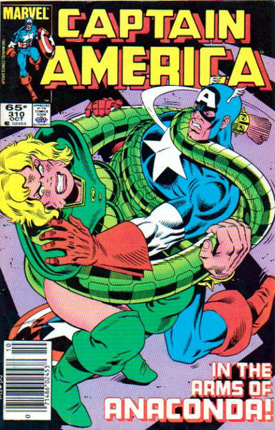 Cover for Captain America (Marvel, 1968 series) #310 [Newsstand Edition]