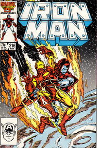 Cover for Iron Man (1968 series) #216 [Direct Sales Edition]