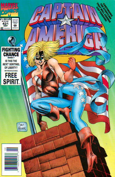 Cover for Captain America (Marvel, 1968 series) #431 [Direct Edition]