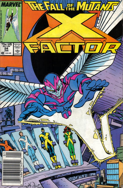 Cover for X-Factor (Marvel, 1986 series) #24 [Newsstand Edition]