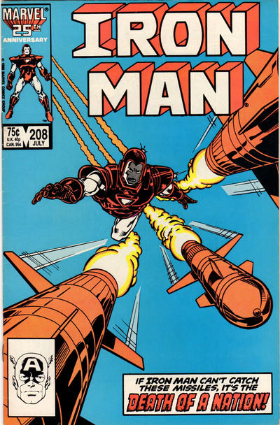 Cover for Iron Man (Marvel, 1968 series) #208 [Direct Sales Edition]