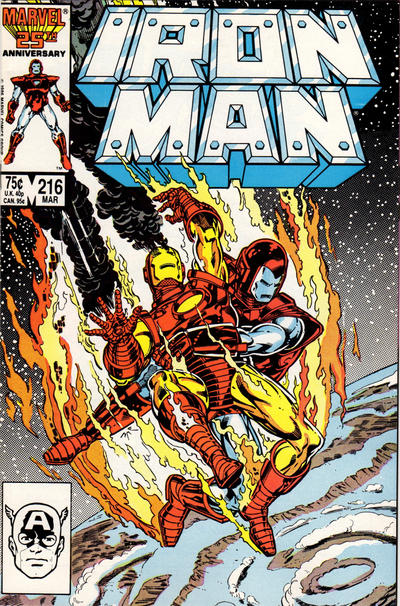 Cover for Iron Man (Marvel, 1968 series) #216 [Direct Sales Edition]