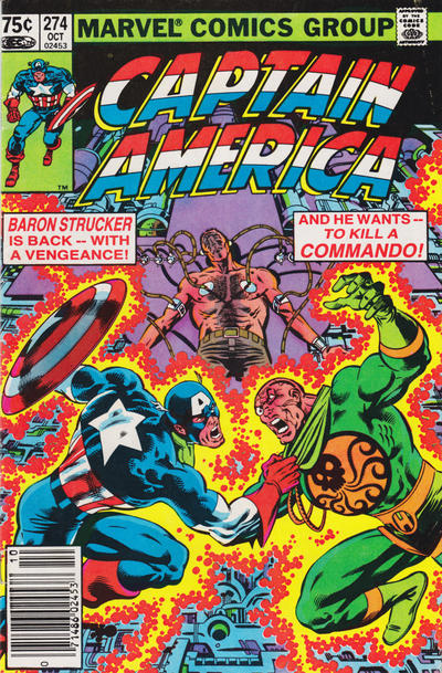 Cover for Captain America (1968 series) #274 [direct edition]