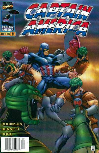 Cover for Captain America (Marvel, 1996 series) #9 [Direct Edition]