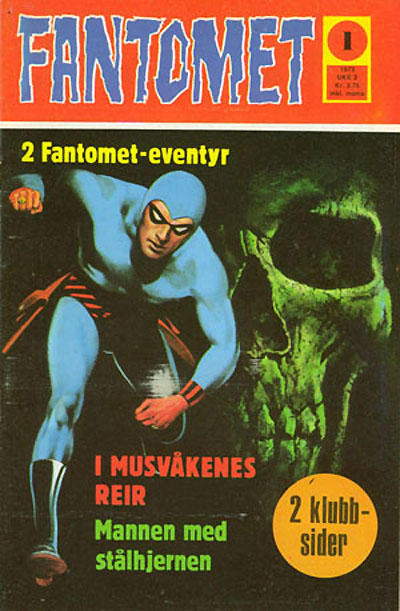 Cover for Fantomet (Nordisk Forlag, 1973 series) #1/1973